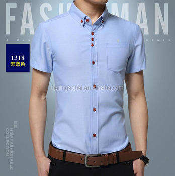 ab2957a8808d China supplier mens clothing plain latest shirt designs men 3 button double  collar dress shirts for