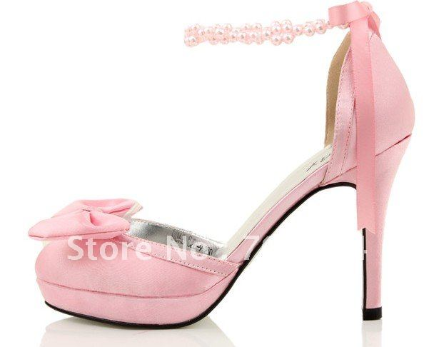 489c0ce4430 Get Quotations · BS244 free shipping pink bowtie wedding shoes