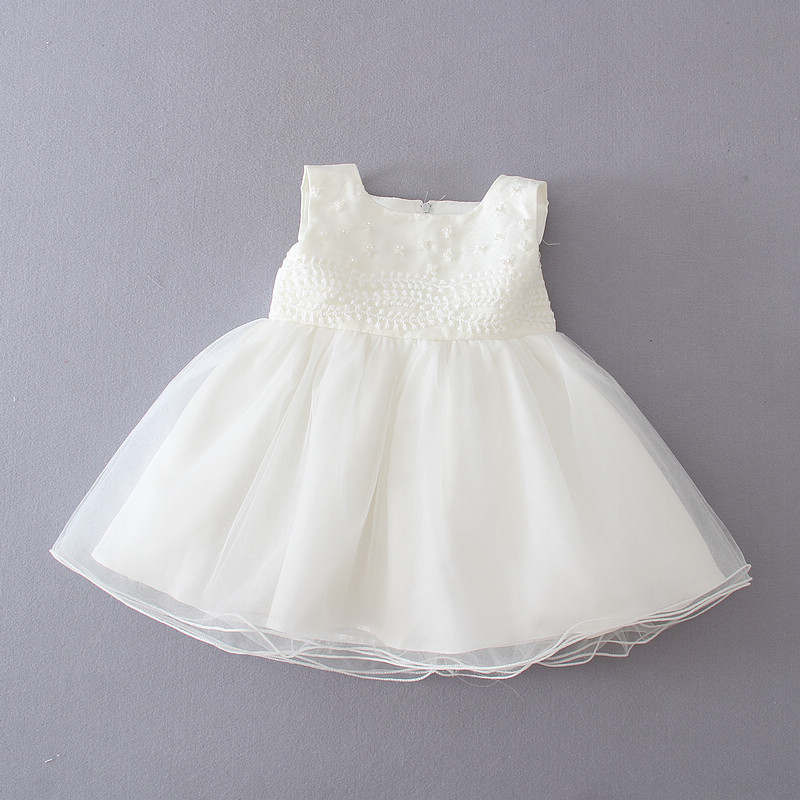 3b7b11a13965 New Mini children boutique clothing designer Newborn Communion Dresses Gown  Tulle Angel birthday party dress 1 year old baby gir