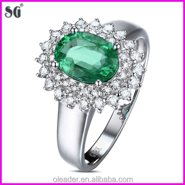 Fashion Jewelry China Supplier King s Crown Shape 18k White Gold