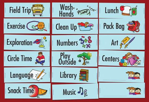 Preschoolkindergarten Magnetic Schedules Buy Magnetic Star Reward