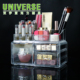 UNIVERSE High Quality Transparent Large Acrylic Cosmetic Makeup Organizer Storage Box With Drawers