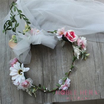 Wholesale Silk Rose Artificial Flower Garland For Sweet Wedding