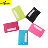 Travelsky Custom plastic ABS business card holder for travel identifier suitcase luggage tag