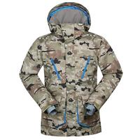 Camo New Arrival Outdoor Sports warm winter ski and snowboard jacket with hood