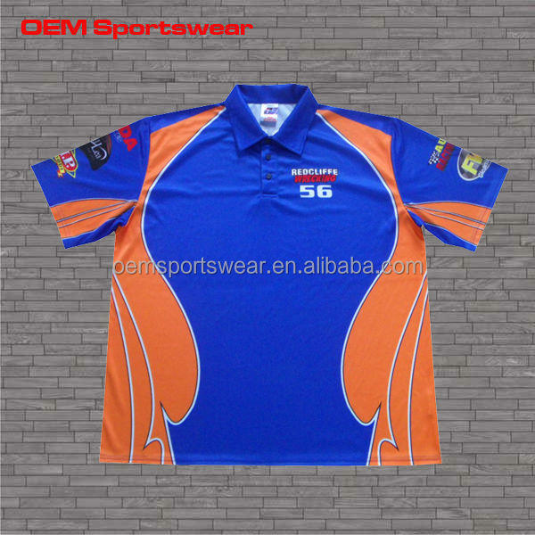 Custom racing shirts sublimated printing motocross jerseys