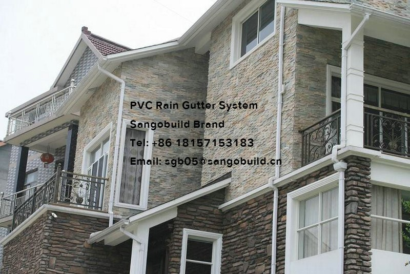 Kenya Roof Pvc Rain Gutter Square Type Pvc Plastic