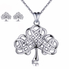 Gift 925 sterling silver wedding aaa zircon cubic zirconia necklace jewelry set