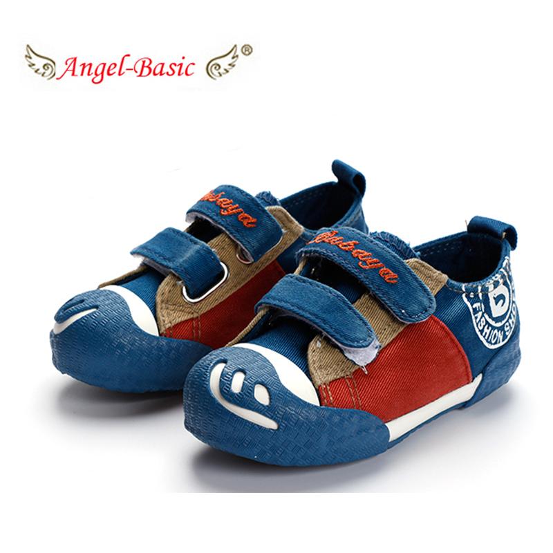 d0bc02c353e2 Get Quotations · Smile Children Girls Boys Velcro Canvas shoes size 23-37  big kids rubber sole fashion