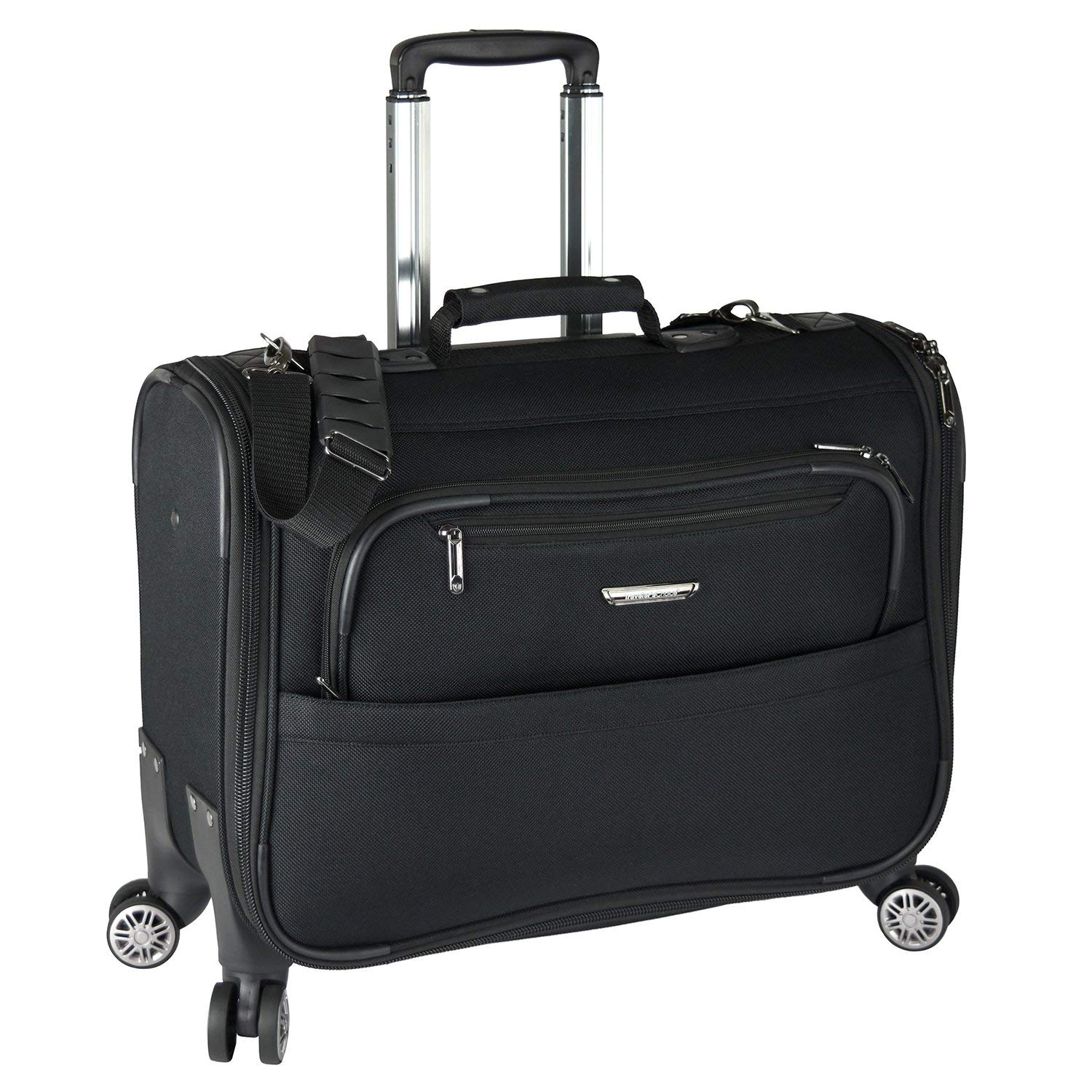 Get Quotations · Traveler s Choice 21-inch Carry-on Softside Durable EVA  Molded Ballistic Fabric 8- e8aa11025e153