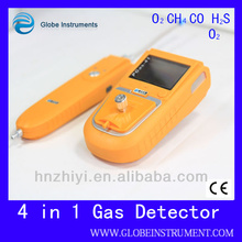 Emission test equipment PGas-41 Detect O2 CH4 CO H2S FOUR GAS detector and alarm