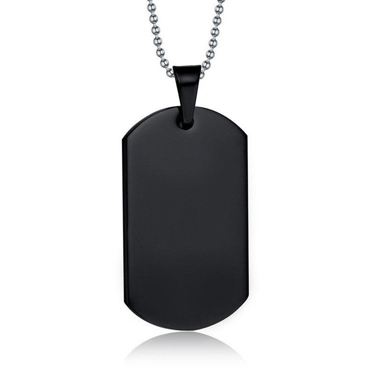 Fabrieksvervaardiging rvs blank dog tag metalen custom black dog tag