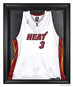 5fe3ccf8d Get Quotations · Miami Heat Black Framed Logo Jersey Display Case