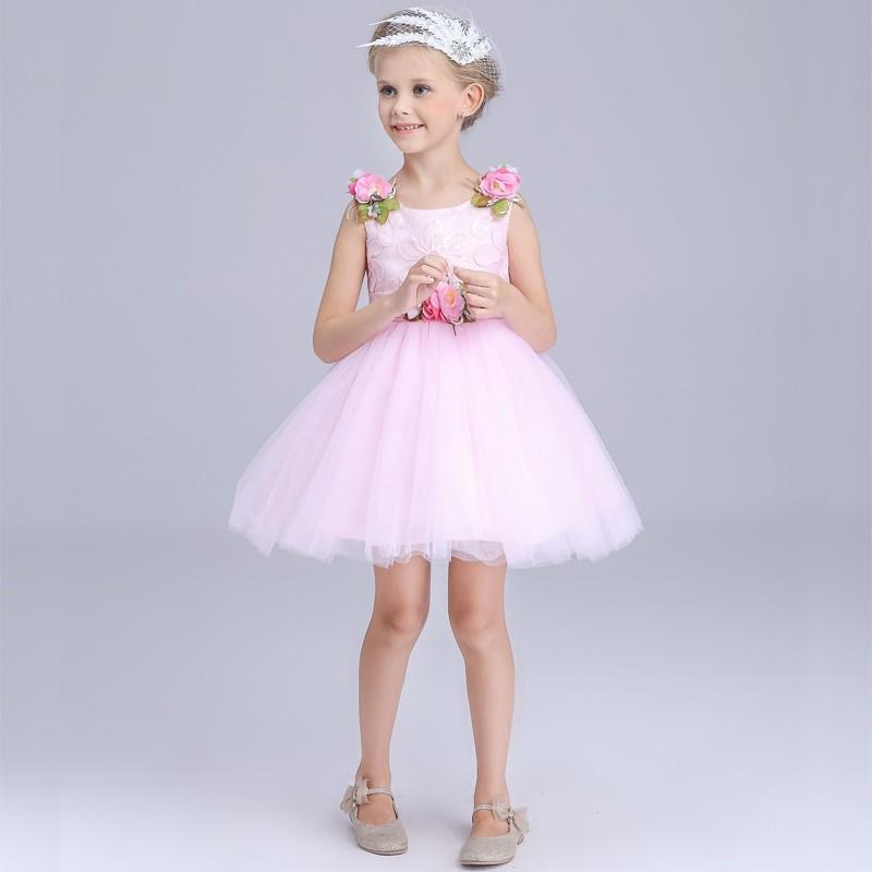 Tüll Blume Mädchen Kleid Muster Appliaued Blume Kinder Mädchen ...