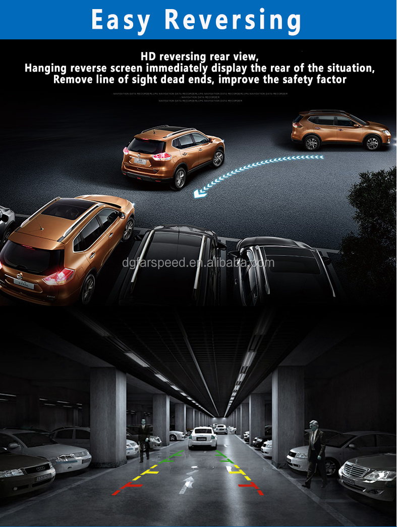 180 Degree Rear View Night Vision Car Camera Protruly For Back Roof Mount Fish Eye Backup System