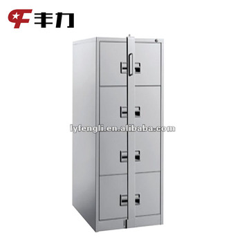 Office Furniture Steel 4 Drawers Vertical Metal Filing Storage Cabinet With Lock Bar