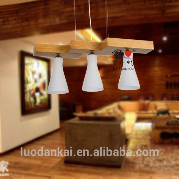 Lámpara de madera para hogar, iluminación decorativa moderna ...