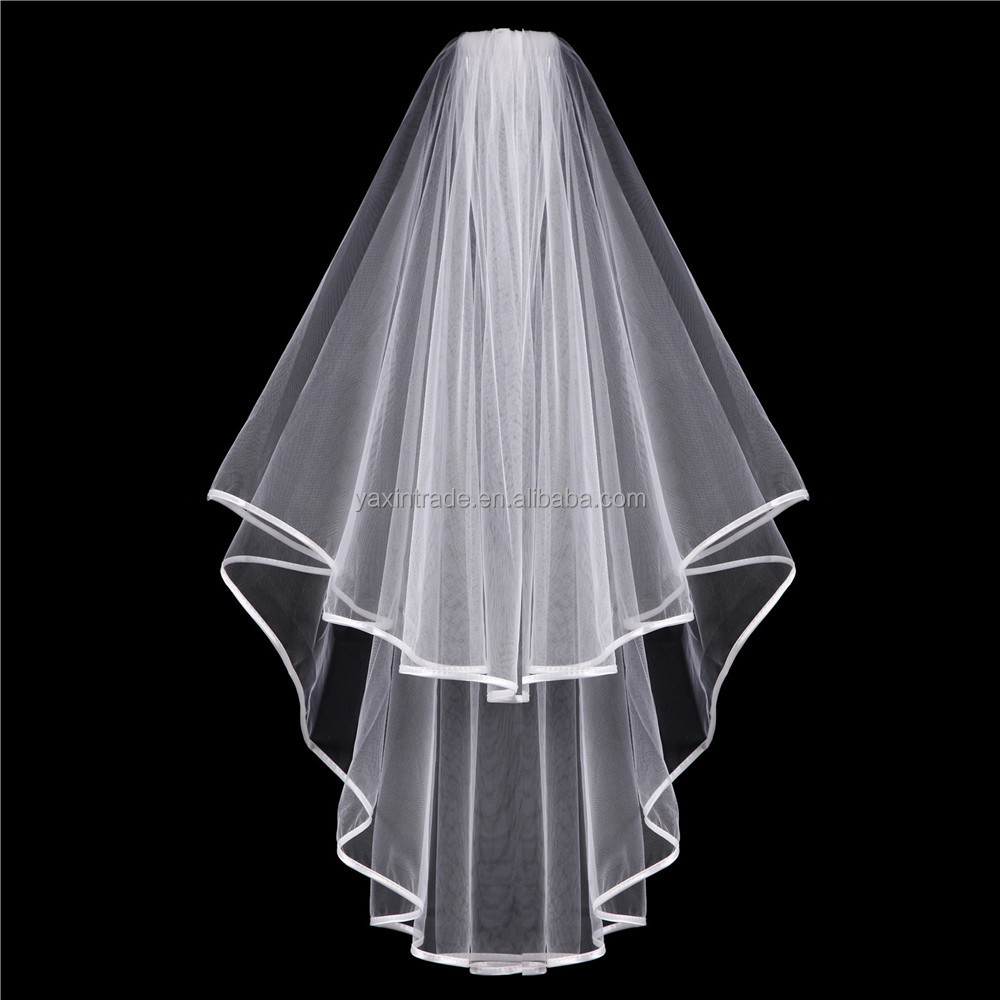 China supplier wholesale White Bride Veil With Comb For Hen Wedding Party