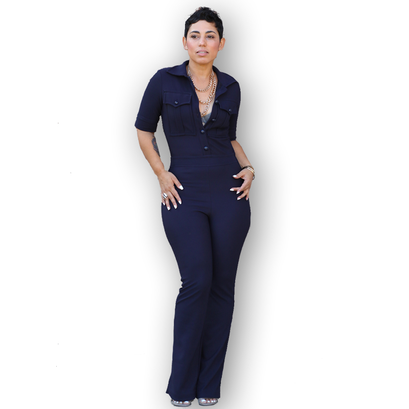 e855cb7a8d1c Dark Blue Crossover Back Bat Sleeves Wide Leg Jumpsuit. Images of Navy Blue  Jumpsuit - Reikian