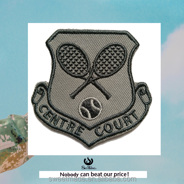 grey sports embroidered badges