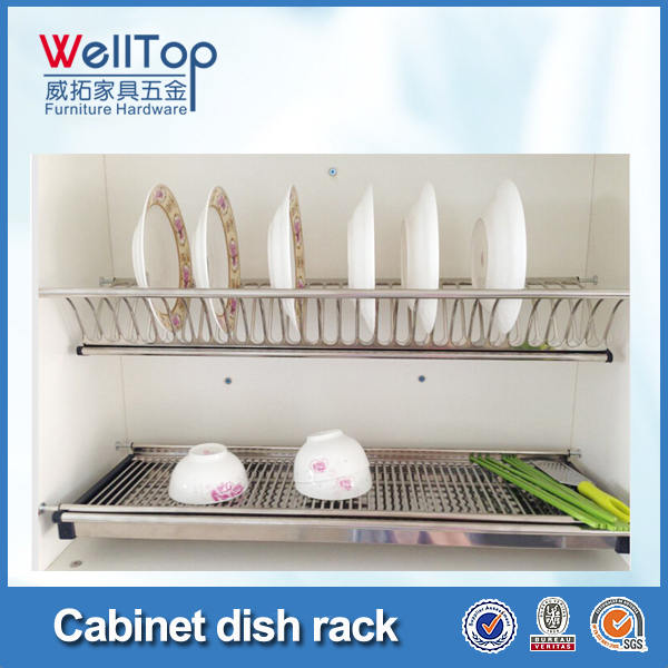 2 Layers Stainless Steel Kitchen Plate Rack - Buy Stainless Steel ...