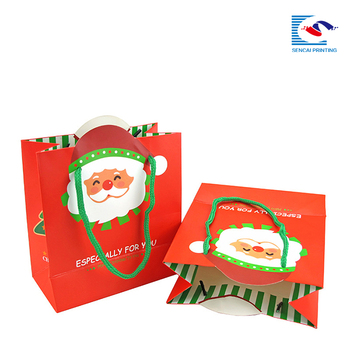 high quality custom christmas gift bags and boxes with handles
