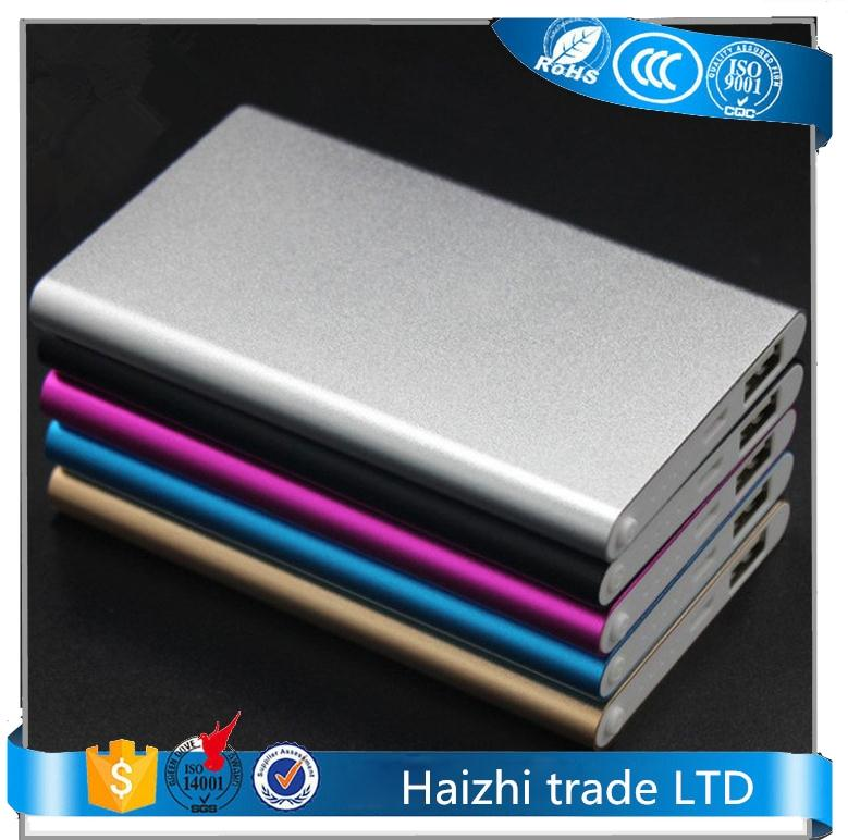 ultra silm power bank 5V 1A power bank charger external battery 5000 mah