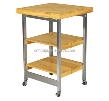 Folding Kitchen Island | Folding Kitchen Island Commercial Stainless Steel And Wood Kitch