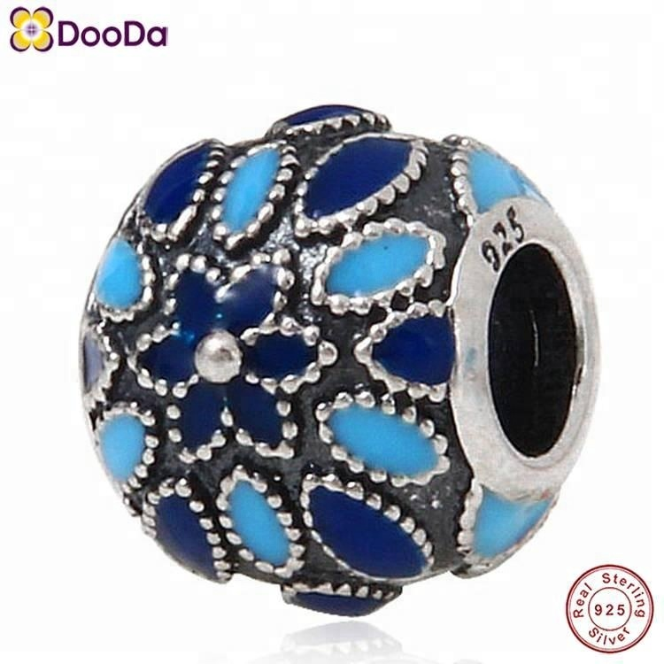 Dooda Jewelry Kiss Cathedral Rose Charm Authentic 925 Sterling Silver Flower Bead for European Style Bracelet
