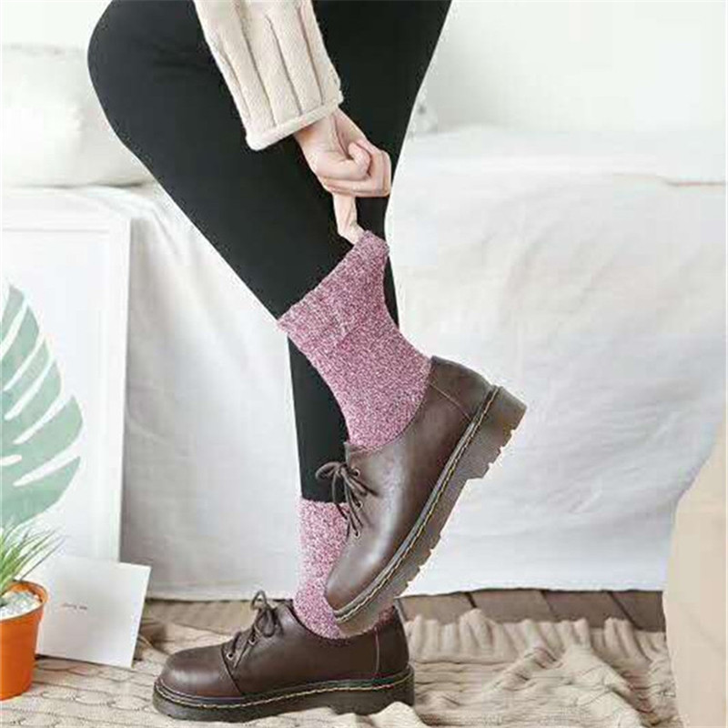 Cheap Price Good Quality Fashion Retro Wool Socks Women Winter Thick Warm Tube Wool Socks