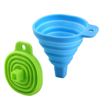 silicone rubber foldable oil funnel flexible soft kitchen liquid transfer 100 bpa free - Kitchen Funnel