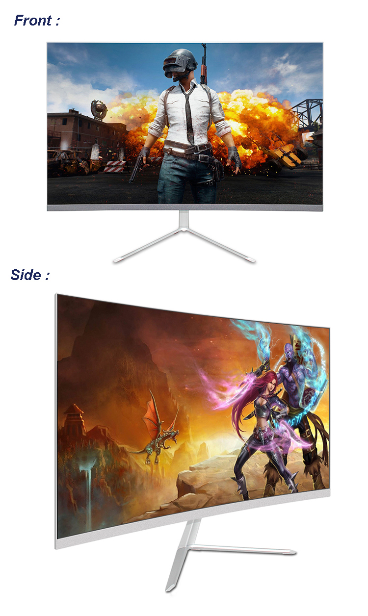 Wholesale 24 Inch Full HD 1080P Widescreen LED Curved PC Gaming Monitors