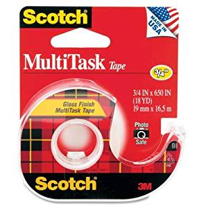 "Wholesale CASE of 25 - 3M Scotch MultiTask Tape-MultiTask Tape, 1"" Core, 3/4""x650"", Transparent"