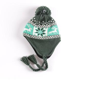 Winter Feste Taste Design Stricken Schirmmütze Schädel Häkeln Frauen