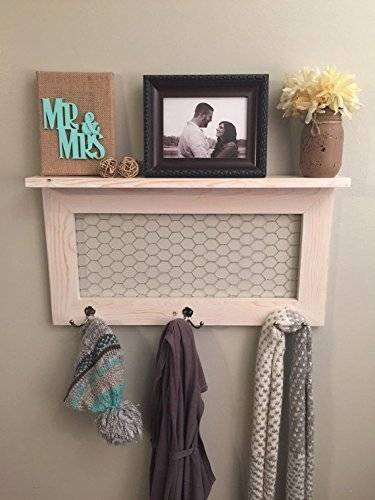 Get Quotations Rustic Home Decor Country Farmhouse Coat Rack With Shelf