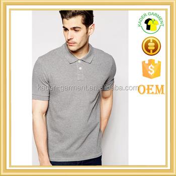 Quality Custom Classic Business Work Uniform Slub Fabric Polo T Shirts