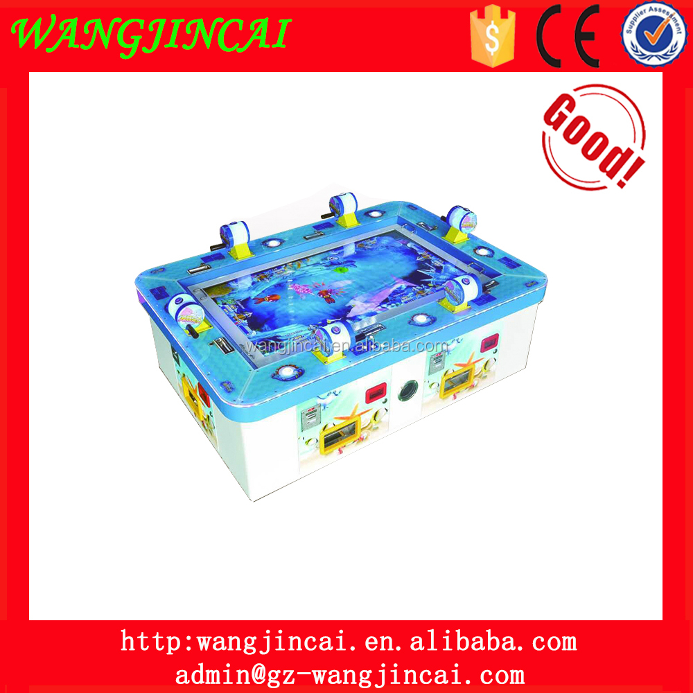 coin operated electronic fishing table arcade video games catch fish hunter redemption prize game machine