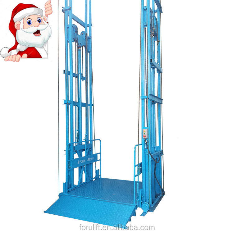 CE certificate electric construction hydraulic cargo lifts for warehouse