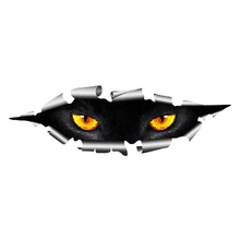 Cool 3D Car Styling Funny Cat Eyes Peeking Car Sticker Waterproof Peeking Monster Auto Accessories Whole Body Cover for All Cars