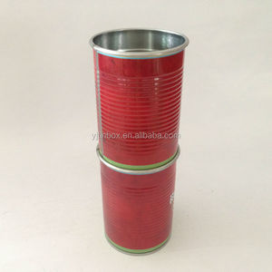 red decorative tin drinking cup for frozen beer round tin box