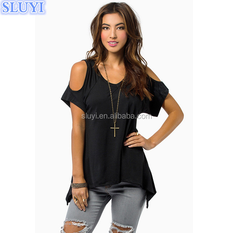 ladies fashion clothing apparel t shirt women clothes summer short sleeve cotton femme blank t-shirt cheap off shoulder tops