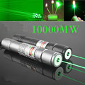 Cool Laser 305 Burn Matches Professional Powerful 10000MW Focusable Burning Green Laser Pointer Pen Lazer Pointer