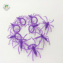 wholesale decoration high quality halloween party tricky kids creepy promotional cute spider rings