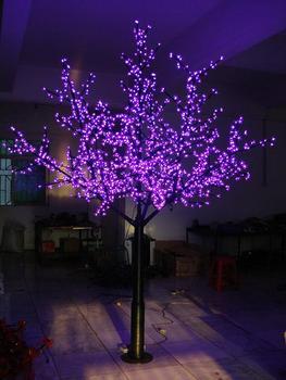 8b13871a1 2.5 m artificial de cereja LEVOU luz da árvore de Natal árvore decorativa  ...