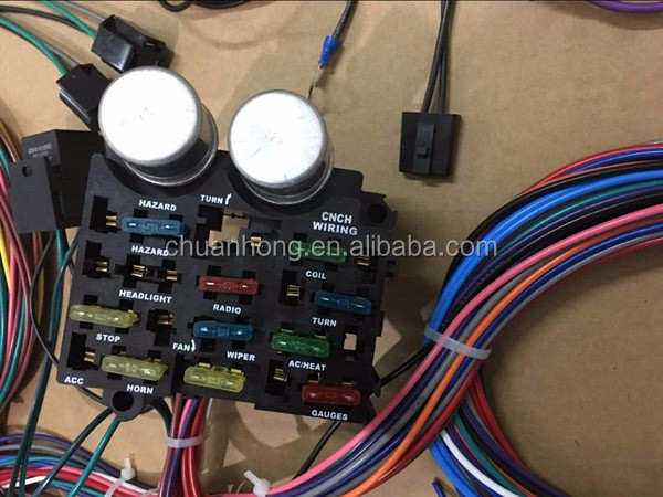 fuse box 12 circuit wiring harness for chevy mopar ford hot rods universal  x-long