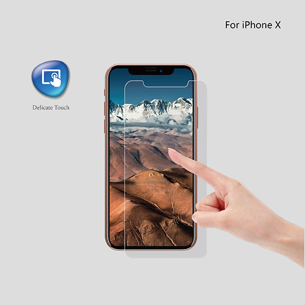 9H hardness 2.5D round edge clear tempered glass screen protector for iphoneX
