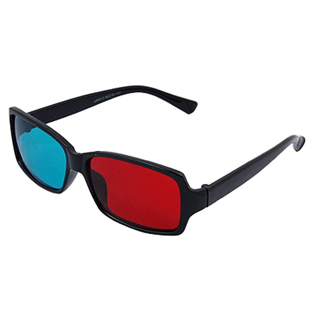 Dimart Plastic Frame Red Blue Lens Anaglyph Glasses for 3D Films Games