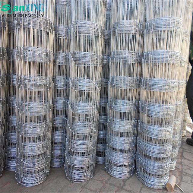Galvanized wire pig fence