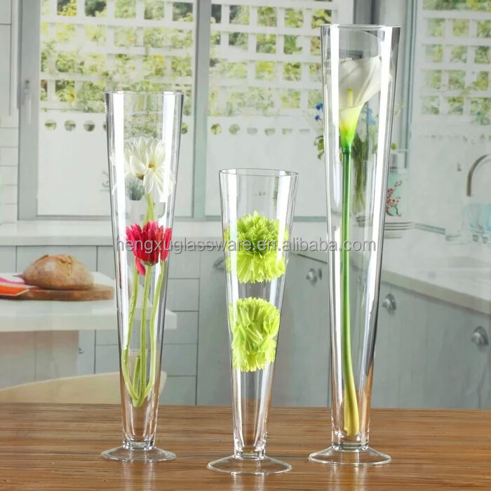 effacer grand c ne vases en verre pour la d coration de mariage vases en verre cristal id de. Black Bedroom Furniture Sets. Home Design Ideas