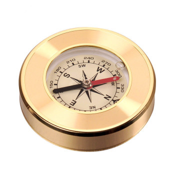 Waterproof Outdoor Car Compass Oil Mountaineering Compass Brass Copper Compass